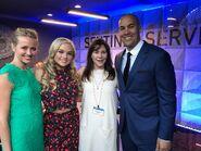 Upfronts 2017 Amy Acker, Natalie Alyn Lind, Lauren Shuler Donner, and Coby Bell