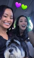 BTS 1x05 Boxed In Jamie Fong and Emma Dumont with dog