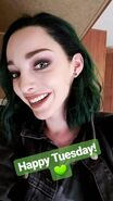 BTS 1x05 Boxed In Emma Dumont 'happy tuesday'