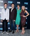 Upfronts 2017 Natalie Alyn Lind, Percy Hynes White, Stephen Moyer, and Amy Acker