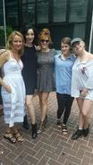 BTS Amy Acker, Emma Dumont, Hayley Lovitt, Elena Satine, and Natalie Alyn Lind