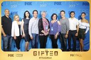 Fox Promotion Executive Conference 2017 Coby Bell, Natalie Alyn Lind, Emma Dumont, Matt Nix, Stephen Moyer, Blair Redford, and Jamie Chung (1)