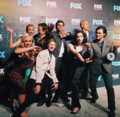 Upfronts 2017 Blair Redford, Amy Acker, Stephen Moyer, Emma Dumont, Sean Teale, Coby Bell, Percy Hynes White, and Natalie Alyn Lind