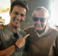 SDCC Comic Con 2017 - Stephen Moyer and Stan Lee