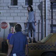 BTS 1x03 eXodus Emma Dumont harness