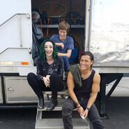 BTS 1x05 Boxed In Blair Redford, Percy Hynes White, and Emma Dumont