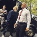 BTS 1x05 Boxed In Coby Bell on set