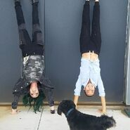 BTS 1x05 Boxed In Emma Dumont and Jamie Chung upside down