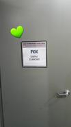 BTS Emma Dumont's door