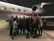 Filming of pilot in Dallas part 2 (Matt Nix, Bryan Singer, Amy Acker, Blair Redford, Emma Dumont, Coby Bell, Natalie Alyn Lind, and Percy Hynes White)