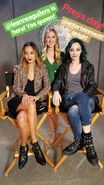 Press day Jamie Chung and Emma Dumont