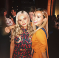 Upfronts 2017 Natalie Alyn Lind and Jamie Chung