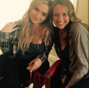 BTS Natalie Alyn Lind and Amy Acker