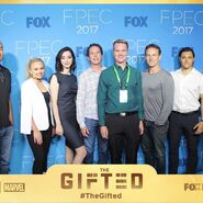 Fox Promotion Executive Conference 2017 Natalie Alyn Lind, Emma Dumont, Matt Nix, Stephen Moyer, and Blair Redford
