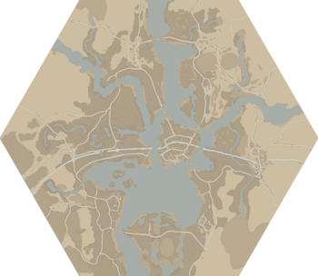 A map of The Drowned Vale.
