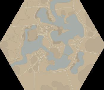 A map of Acrithia.