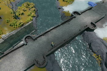 A screenshot of a Stone Bridge.