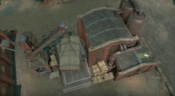 A screenshot of a stationary crane.