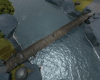 A screenshot of a Wooden Drawbridge.