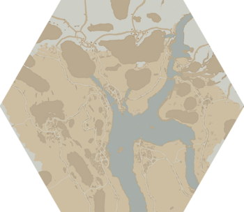 A map of The Linn of Mercy