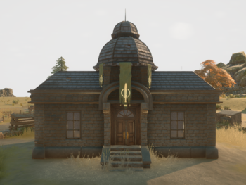 An in-game screenshot of a Town Hall.