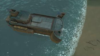 A screenshot of a Deployed Landing Ship.