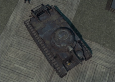 A Light Tank with very little Tank Armor left.