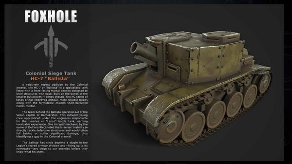 Lore description of the Siege Tank