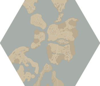 A map of Tempest Island.