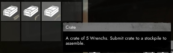 An example of how a subicon crate looks like and the tooltip description.