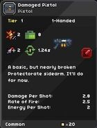 Damaged Pistol