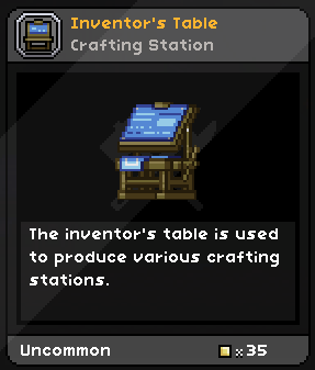 Inventor's Table