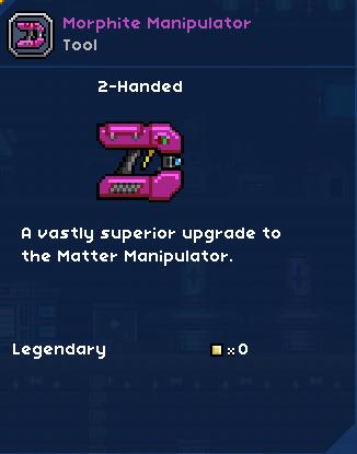 Morphite Manipulator