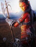 Red-warrior-of-the-desert-sands-fantasy-art full