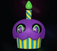 Blacklight Cupcake (Purple)