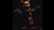 Nightmare Fredbear en La Galería (de frente)