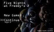 FNaF 2 (Móvil) - Menú (Noche 2)