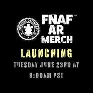 FNaF AR Merch - Launch Day