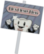 Flo's Glossy Floss Sign 2