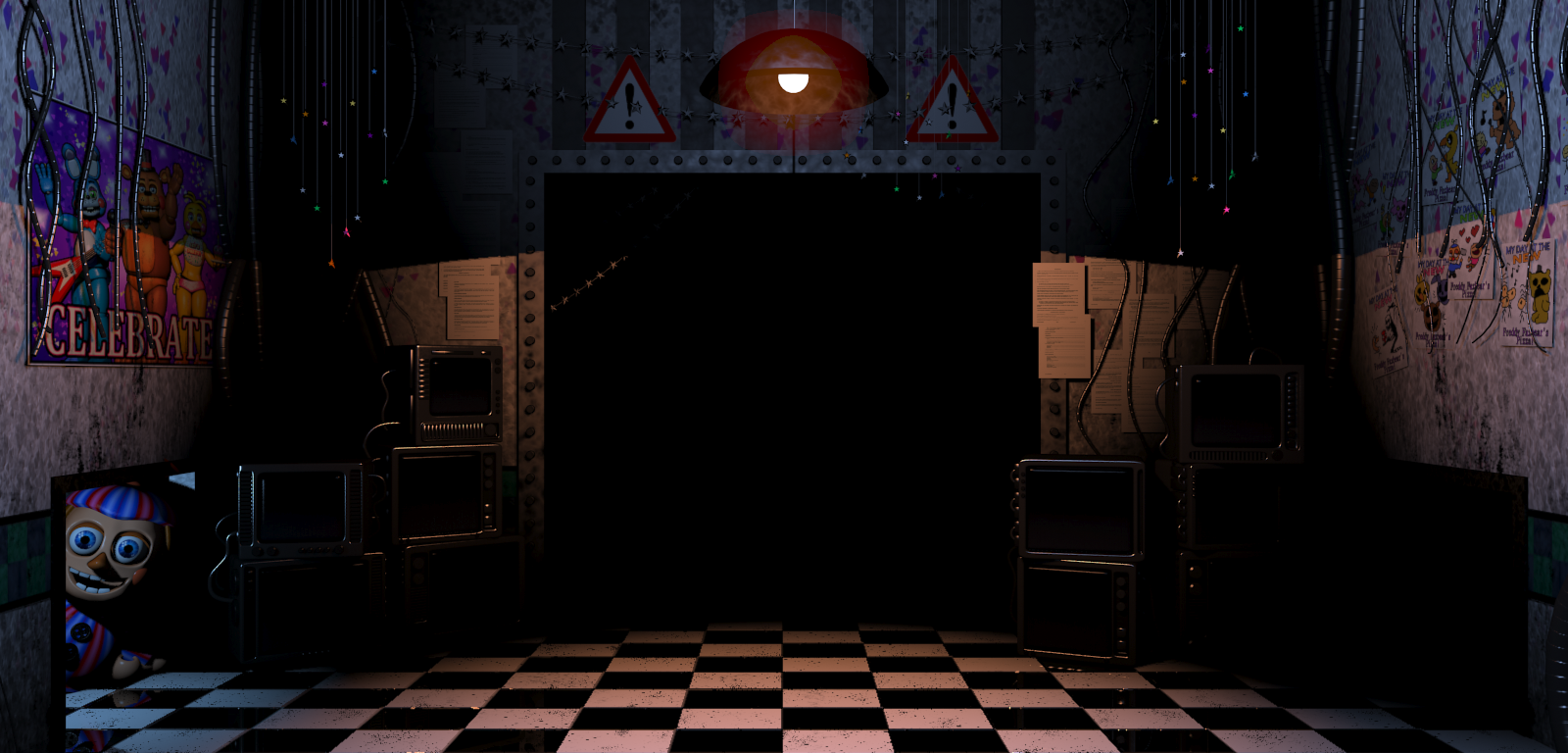 FNaF2 - Office (Balloon Boy, Left Air Vent).png