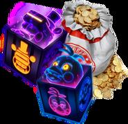 FNaF AR - Minipaquete - Tienda (FazToken - Traje - VR Toy Freddy - Highscore Toy Chica)