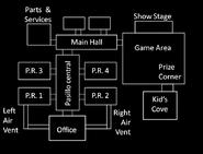 FNaF2 - Mapa (Habitaciones)