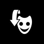 FNaF AR - Botón de la máscara de Freddy Fazbear (Desactivado)