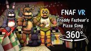 360° Freddy Fazbear's Pizza Song - Showtime Footage SFM (FNAF Help Wanted VR)
