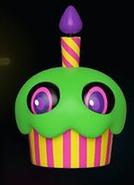Blacklight Cupcake (Green)