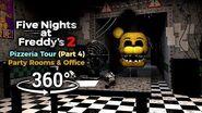 360° Five Nights at Freddy's 2 Pizzeria Tour - Parts & Service Part 4 (VR Compatible)