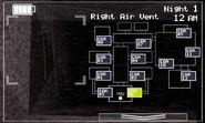 FNaF 2 (Móvil) - Right Air Vent (Luz apagada)