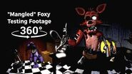 """360° """"Mangled"""" Foxy Testing Footage - Five Nights at Freddy's 1 SFM (VR Compatible)"""