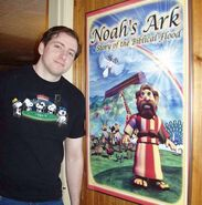 Scott with his Noah's Ark poster