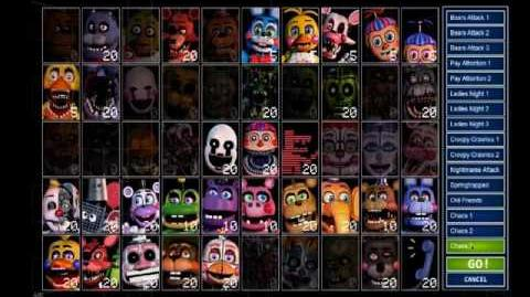 All Presets in the Ultimate Custom Night Demo